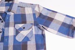 Forma da camisa da verificação dos homens Fotos de Stock Royalty Free