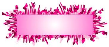 Forma da cor-de-rosa do logotipo do Web page ilustração do vetor