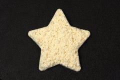 Forma da estrela do pó da proteína fotos de stock