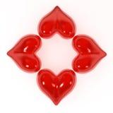 Forma da flor do coração Fotos de Stock