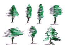 Forma da Ilustração- da árvore Ilustração Stock