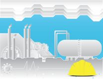 Forma da ilustração industrial na indústria do conceito Foto de Stock Royalty Free