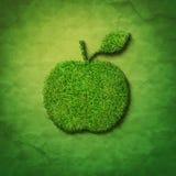 Forma da maçã da grama Imagem de Stock Royalty Free
