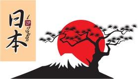 Forma da montanha de Fuji Fotografia de Stock