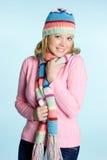 Forma da mulher do inverno fotografia de stock royalty free