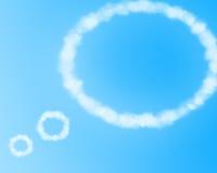 Forma da nuvem ilustração do vetor