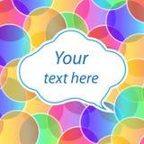 Forma da nuvem com texto Imagens de Stock