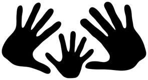 Mãos da família Fotos de Stock Royalty Free