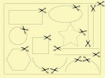 Forma das tesouras ilustração stock
