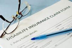 Forma de demanda de seguro Fotografía de archivo libre de regalías