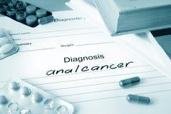 Forma de diagnóstico con el cáncer anal de la diagnosis Imagenes de archivo