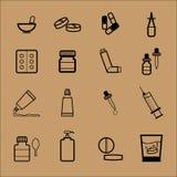 Forma de dosificación de la droga de la farmacia Imágenes de archivo libres de regalías