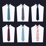 Forma de gravatas diferentes Fotos de Stock