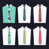 Forma de gravatas diferentes Imagens de Stock Royalty Free