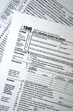 Forma de impuesto 1040, llano, concepto simple Foto de archivo