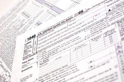 Forma de impuesto 1040 (los E.E.U.U.) Fotografía de archivo