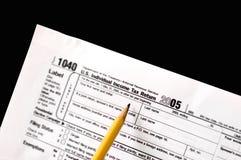 Forma de impuesto fotografía de archivo libre de regalías