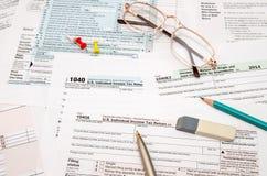 forma de impuesto 1040 Foto de archivo libre de regalías