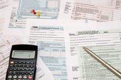 forma de impuesto 1040 Imagen de archivo libre de regalías