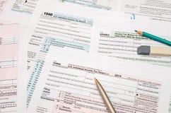 forma de impuesto 1040 Imágenes de archivo libres de regalías
