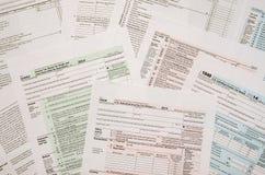Forma de impuesto 1040 Fotografía de archivo