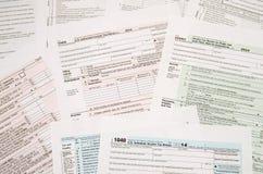 Forma de impuesto 1040 Fotos de archivo libres de regalías