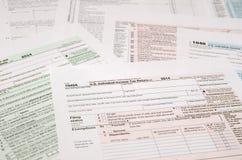 Forma de impuesto 1040 Fotografía de archivo libre de regalías
