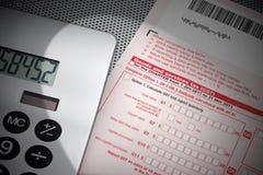 Forma de impuesto de los bienes y servicios GST Fotografía de archivo libre de regalías