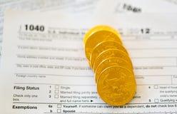 Forma de impuesto de los E.E.U.U. 1040 por el año 2012 Foto de archivo libre de regalías