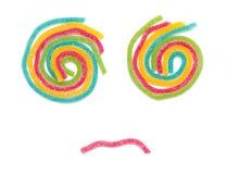 Forma de Jelly Sugar Candies With Human Face. Imágenes de archivo libres de regalías