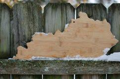 Forma de Kentucky Fotografía de archivo libre de regalías
