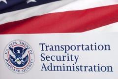 Forma de la administración de la seguridad del transporte fotografía de archivo libre de regalías