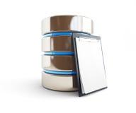 Forma de la base de datos Imagen de archivo libre de regalías
