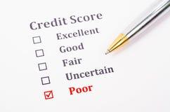 Forma de la cuenta de crédito foto de archivo libre de regalías