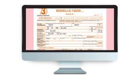Forma de la declaración de impuestos en línea almacen de video