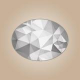 Forma de la elipse del diamante Imagen de archivo