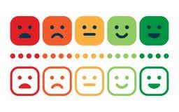 Forma de la encuesta sobre la satisfacción del servicio de atención al cliente Control de calidad stock de ilustración