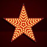 Forma de la estrella de la bombilla del estilo de Broadway stock de ilustración