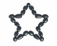 Forma de la estrella de los ZENES Stone Imágenes de archivo libres de regalías