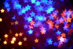 Forma de la estrella de Luminarie Imagen de archivo libre de regalías