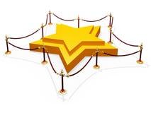 Forma de la estrella del podio imagen de archivo
