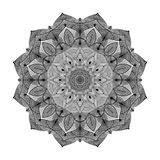 Forma de la flor de la mandala para las banderas de los flayers de las tarjetas de visita Fotografía de archivo