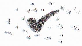 Forma de la gente de una muestra de la marca de verificación ilustración del vector