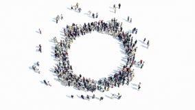 Forma de la gente de una muestra del cirlce libre illustration