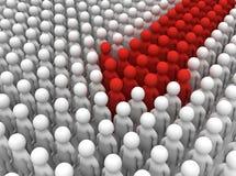 Forma de la gente para arriba en flecha libre illustration