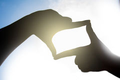 Forma de la mano de una cámara fotos de archivo libres de regalías