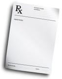 Forma de la prescripción de RX Imagen de archivo
