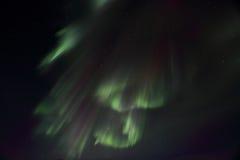 Forma de las cortinas del whith de la aurora boreal Fotos de archivo libres de regalías
