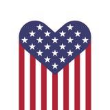Forma de los corazones de la bandera de los E.E.U.U. Imágenes de archivo libres de regalías