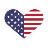 Forma de los corazones de la bandera de los E.E.U.U. Imagen de archivo